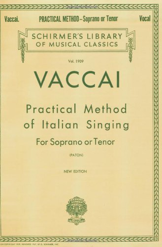 Practical Method of Italian Singing Soprano or Tenor N/A edition cover