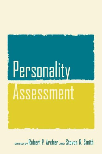 Personality Assessment   2008 edition cover