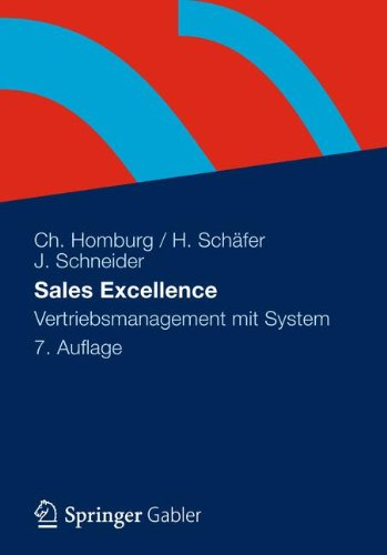 Sales Excellence: Vertriebsmanagement Mit System  2012 edition cover