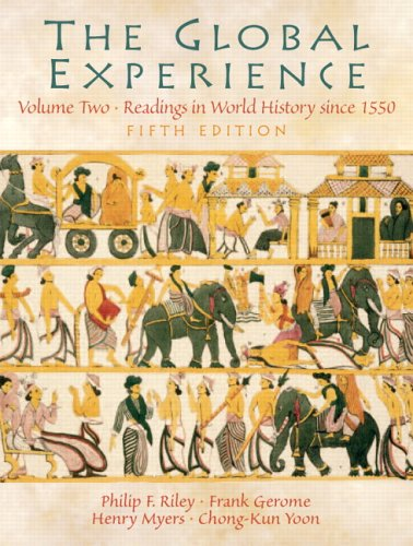Global Experience Readings in World History since 1550 5th 2006 (Revised) edition cover