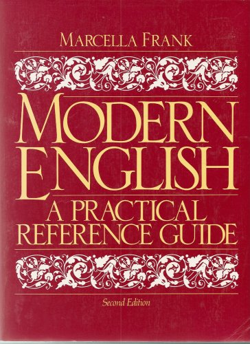 Modern English A Practical Reference Guide 2nd 1993 edition cover