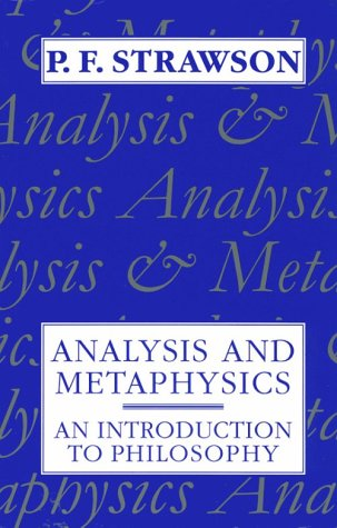 Analysis and Metaphysics An Introduction to Philosophy  1992 edition cover
