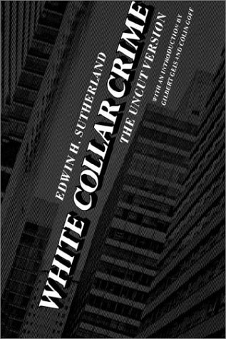 White Collar Crime The Uncut Version  1985 (Reprint) edition cover