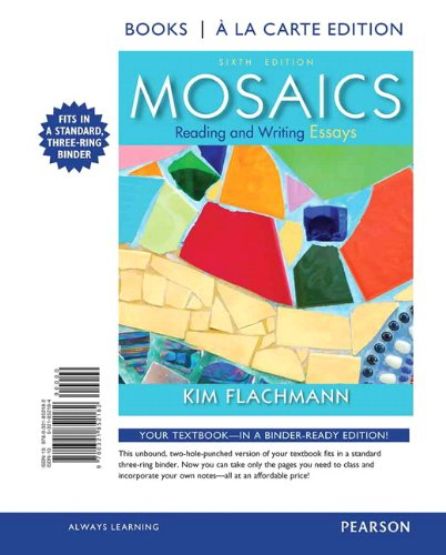 Mosaics Reading and Writing Essays, Books a la Carte Edition 6th 2014 edition cover