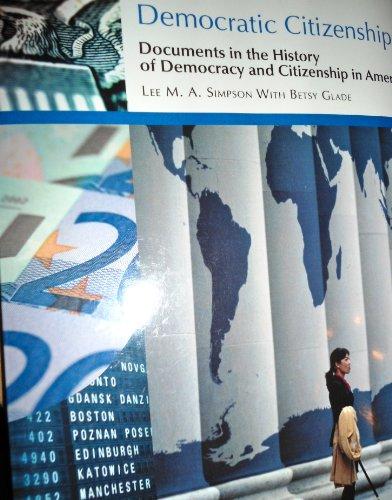 DEMOCRATIC CITIZENSHIP >CUSTOM N/A edition cover