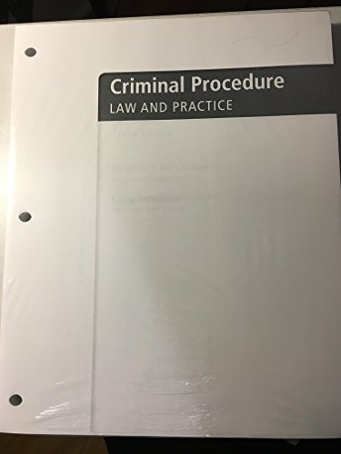 Criminal Procedure: Law and Practice  2016 9781305660182 Front Cover