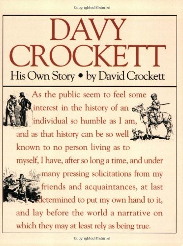 Davy Crockett His Own Story  1993 (Reprint) edition cover
