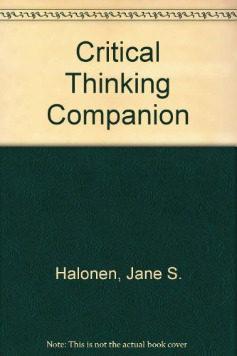 Critical Thinking Companion for Introductory Psychology N/A 9781572590182 Front Cover