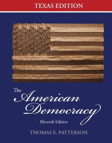 American Democracy Texas Edition  11th 2013 edition cover