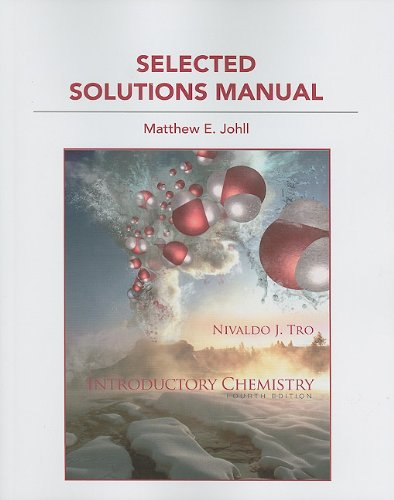 Student Solution Manual for Introductory Chemistry  4th 2012 9780321730183 Front Cover
