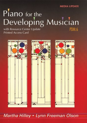 Piano for the Developing Musician, Media Update (with Resource Center Printed Access Card)  6th 2010 edition cover