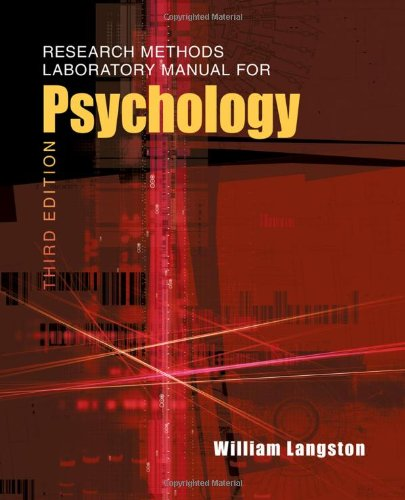 Psychology  3rd 2011 (Lab Manual) 9780495811183 Front Cover