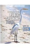 Experiences in Public Speaking An Activity Book for Public Speaking- SPCH 1315 5th 2012 (Revised) edition cover