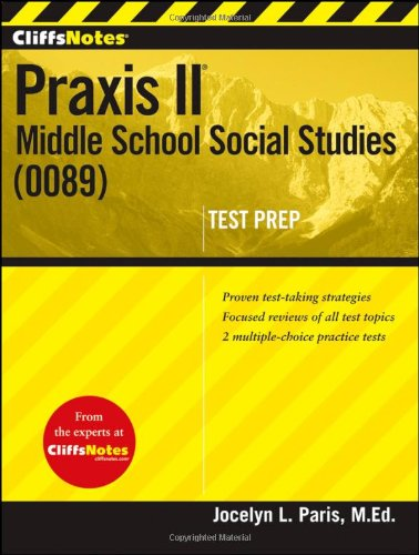 Praxis II Middle School Social Studies (0089)  2012 9781118131183 Front Cover