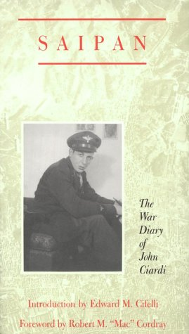 Saipan The War Diary of John Ciardi  1988 edition cover