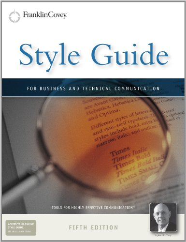 Style Guide For Business and Technical Communication 5th 2010 edition cover