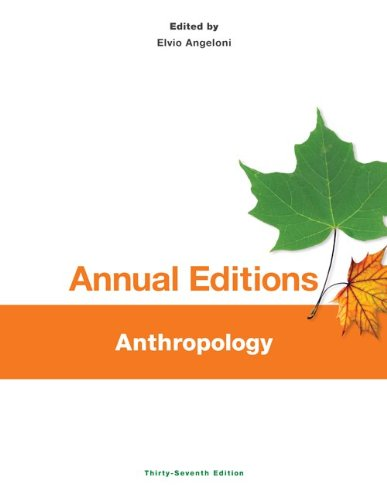 Anthropology  37th 2014 edition cover