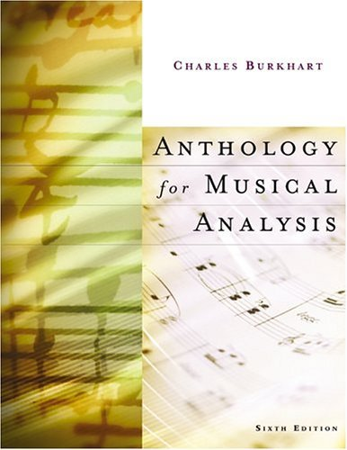 Anthology for Musical Analysis  6th 2004 (Revised) edition cover