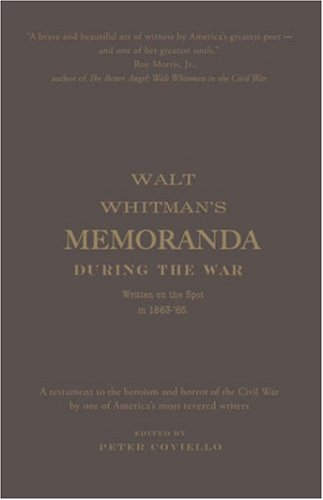 Memoranda During the War Written on the Spot In 1863-'65  2006 edition cover
