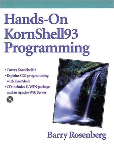 Hands-On KornShell93 Programming  2nd 1999 edition cover