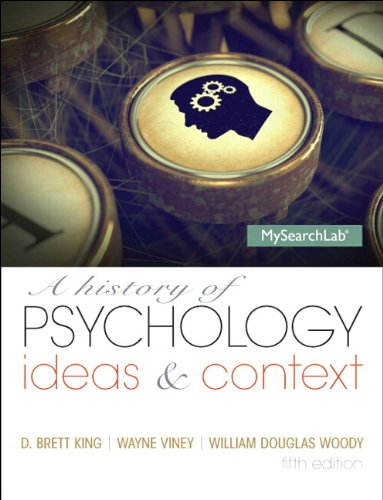 History of Psychology Ideas and Context 5th 2014 9780205987184 Front Cover
