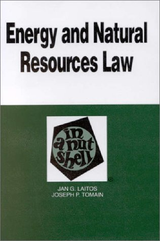 Energy and Natural Resources Law in a Nutshell   1997 edition cover