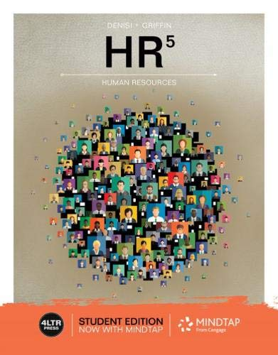 Hr Human Resources 5th 2020 9780357048184 Front Cover