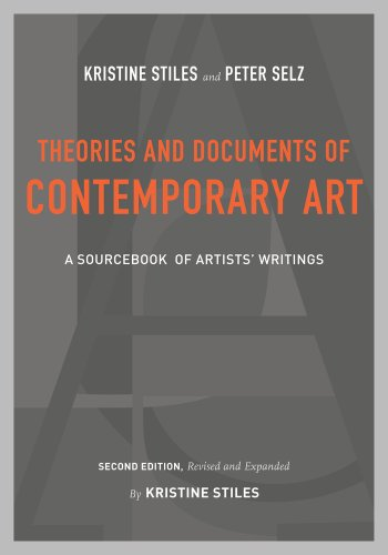 Theories and Documents of Contemporary Art A Sourcebook of Artists' Writings 2nd 2010 (Revised) edition cover