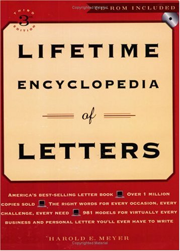 Lifetime Encyclopedia of Letters  3rd 2001 edition cover