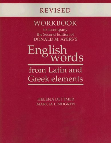English Words from Latin and Greek Elements  2nd 2005 (Revised) edition cover