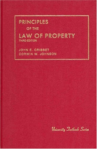 Principles of the Law of Property, 1989  3rd 1989 (Revised) edition cover
