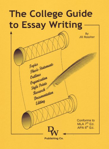 COLLEGE GUIDE TO ESSAY WRITING N/A edition cover