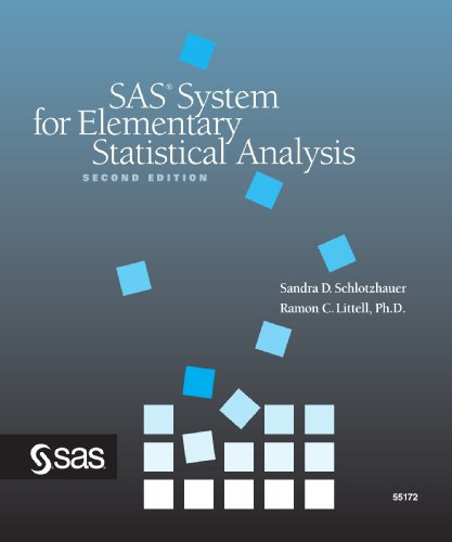 SAS System for Elementary Statistical Analysis, Second Edition 2nd 1999 edition cover