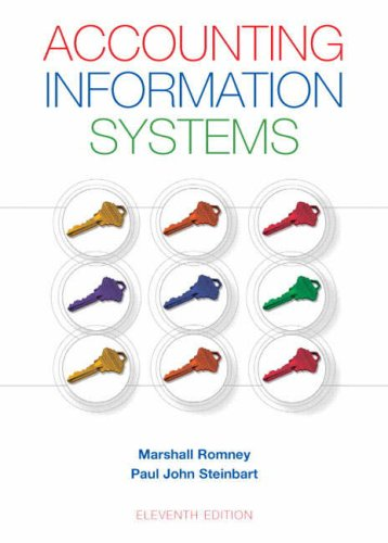 Accounting Information Systems  11th 2009 edition cover