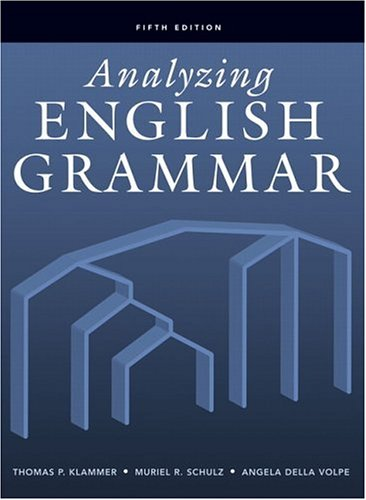 Analyzing English Grammar  5th 2007 (Revised) edition cover