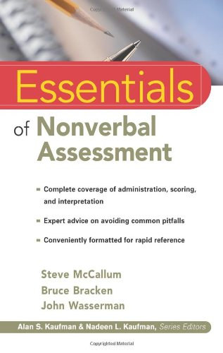 Essentials of Nonverbal Assessment   2001 edition cover