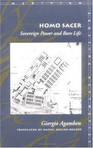 Homo Sacer Sovereign Power and Bare Life  1998 edition cover