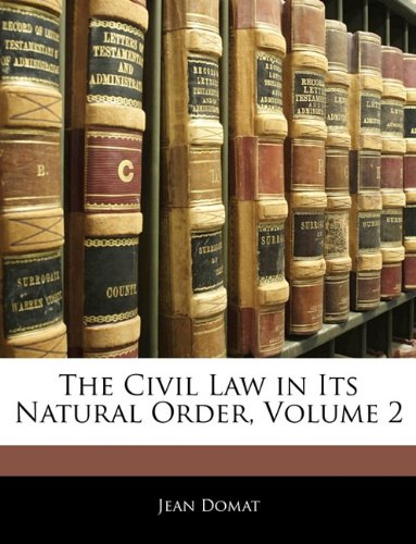 The Civil Law in Its Natural Order:   2010 edition cover