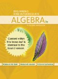 Beginning and Intermediate Algebra A Guided Approach 7th 2015 edition cover
