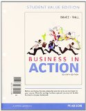 Business in Action, Student Value Edition Plus 2014 MyBizLab with Pearson EText -- Access Card Package  7th 2015 edition cover