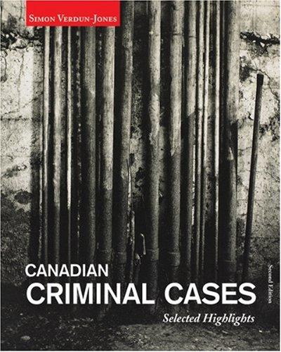CANADIAN CRIMINAL CASES:SEL.HI 2nd 2006 edition cover