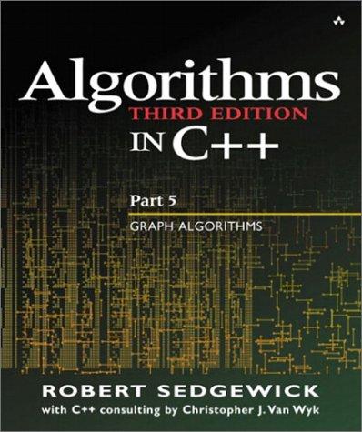 Algorithms in C++ Graph Algorithms 3rd 2002 (Revised) edition cover
