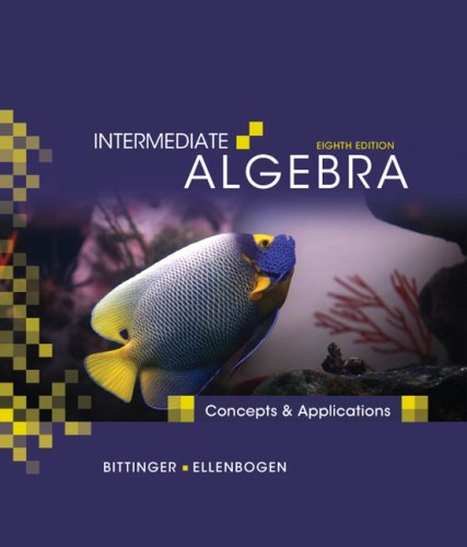 Intermediate Algebra Concepts and Applications 8th 2010 edition cover