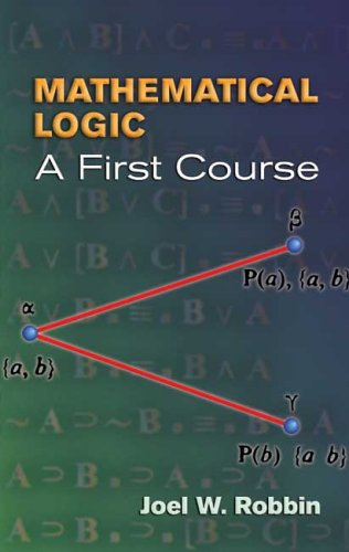 Mathematical Logic A First Course  2006 edition cover