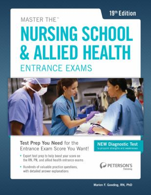 Master the Nursing School and Allied Health Exams  19th edition cover
