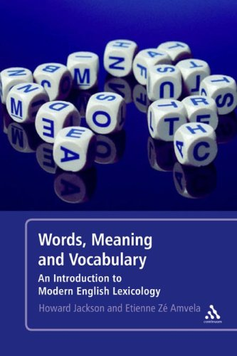 Words, Meaning and Vocabulary An Introduction to Modern English Lexicology 2nd 2007 (Revised) edition cover