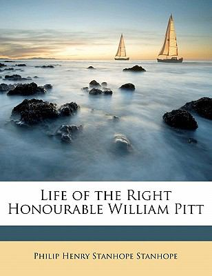 Life of the Right Honourable William Pitt  N/A 9781115298186 Front Cover
