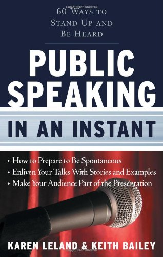 Public Speaking in an Instant   2009 edition cover