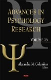 Advances in Psychology Research:  2010 edition cover