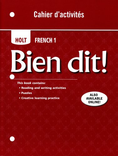 Bien Dit!, French 1   2007 9780030797187 Front Cover